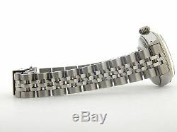 Rolex Date Lady Stainless Steel & 18K White Gold Watch Jubilee Silver Dial 6917