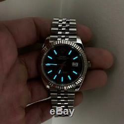 Rolex Datejust 126334 Black Dial Jubilee Bracelet 41mm White Gold Fluted Bezel