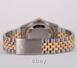 Rolex Datejust 16233 36mm Two Tone Steel 18k Fluted Bezel-Roman White MOP Dial
