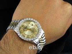 Rolex Datejust 2 Tone 18k Gold 36MM Stainless Steel Jubilee Diamond Watch 5.6 Ct