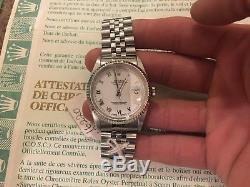 Rolex Datejust 36m Stainless Steel & white gold jubilee bracelet rolex cert 9/10