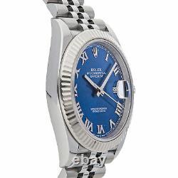 Rolex Datejust 41 Auto Steel White Gold Mens Jubilee Bracelet Watch 126334