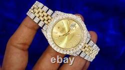 Rolex Datejust 41mm 126333 Two Tone Steel & Gold Watch Iced Out 1120 Diamonds