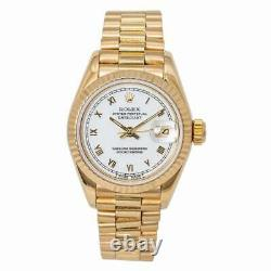 Rolex Datejust 69178 Ladies President Automatic Watch 18k Yellow Gold 26MM