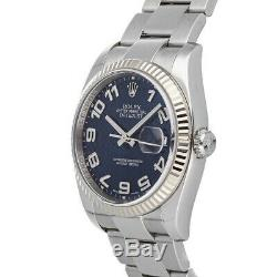 Rolex Datejust Auto 36mm Steel White Gold Mens Oyster Bracelet Watch 116234