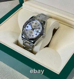 Rolex Datejust II 41mm Arabic Rare Discontinued 18kt White Gold & Steel 116334