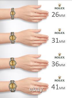 Rolex Datejust II 41mm Black Roman Steel Fluted 18K White Gold Oyster Mens Watch