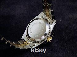 Rolex Datejust Ladies 2Tone 18K Gold & Stainless Steel Watch White Roman 69173