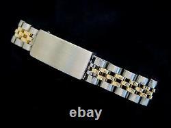 Rolex Datejust Ladies Yellow Gold Stainless Steel Watch Silver Diamond 69173