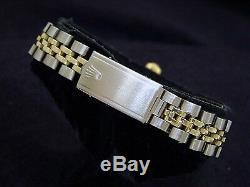 Rolex Datejust Lady 2Tone 14K Gold Steel Watch White MOP with Diamond Dial & Bezel