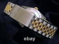 Rolex Datejust Mens 2Tone 18K Gold Steel Datejust Watch Slate Gray Roman 16233