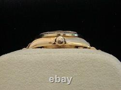 Rolex Datejust President Ladies Solid 18K Yellow Gold Watch Diamond Bezel 69178