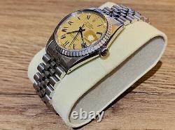 Rolex Datejust REF 16030, Stunning Champagne Dial, Black Hands, Roman Numeral