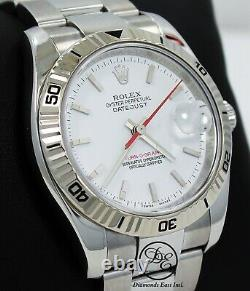Rolex Datejust Turnograph 116264 White Dial 18K White Gold Bezel Papers Mint