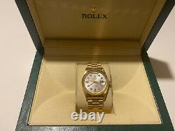 Rolex DayDate 36mm 18038 18k Gold Mother Of Pearl Dial