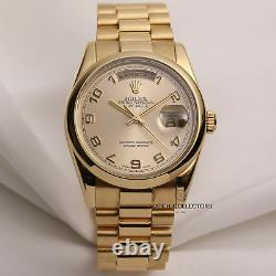 Rolex Day-Date 118208 President 18K Yellow Gold Champagne Dial