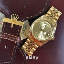 Rolex Day Date 1803 Pie Pan 18k Gold Jubilee Bracelet Just back from ROLEX UK
