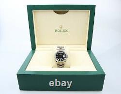 Rolex Day-Date 36 18k White Gold 118239 Black Diamond Dial 2008