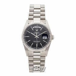 Rolex Day-Date Auto 36mm White Gold Mens President Bracelet Watch 18239