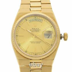 Rolex Day-Date Oysterquartz President 18K Gold Champagne Dial Mens Watch 19018