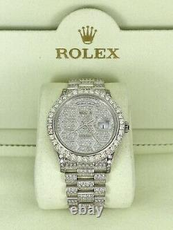 Rolex Day-Date President Custom 18k White Gold 36mm 15ct Iced Out Ref 18039