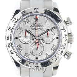 Rolex Daytona 116509 18k White Gold Watch Rolex Meteorite Roman Dial Mint
