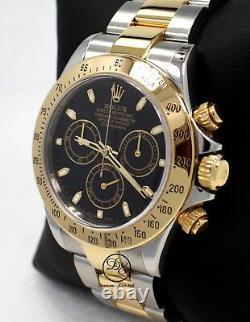 Rolex Daytona 116523 Cosmograph 2Tone 18K Yellow Gold /SS Black Dial Watch Paper