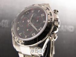 Rolex Daytona 18k White Gold On Bracelet Black Face 116509 Bk Bnib