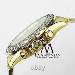 Rolex Daytona 40mm 16528 18K Yellow Gold custom Diamond Dial & Oyster Bracelet