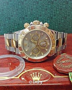 Rolex Daytona Bi Colour 116523 Steel Dial 40mm With Papers SERVICED BY ROLEX