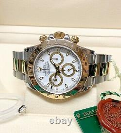 Rolex Daytona Bi Colour 116523 White Dial 40mm With Papers SERVICED BY ROLEX