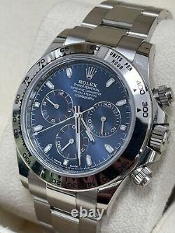 Rolex Daytona Men's White Gold & Blue Dayonta 116509 2020 New
