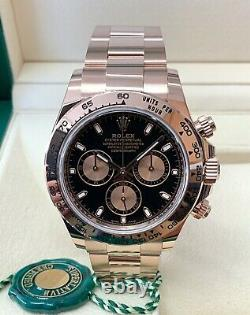 Rolex Daytona Rose Gold 116505 Black Dial 40mm 2020 With Papers UNWORN