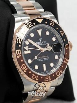 Rolex GMT-MASTER II 126711 ROOT BEER 18K Rose Gold /SS Ceramic B/PAPER UNWORN