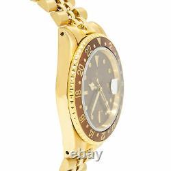 Rolex GMT-Master 16758 Rare Vintage Nipple Enamel Dial 18k Y. Gold Jubilee 40mm