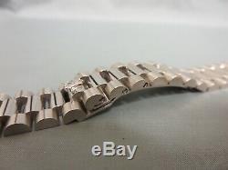 Rolex Genuine 18k White Gold President Bracelet 18239 fits all 36mm Day Date