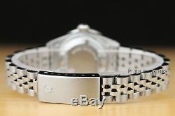 Rolex Ladies Datejust 18k White Gold Diamond Stainless Steel Silver Dial Watch