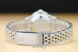 Rolex Ladies Datejust Mother Of Pearl Sapphire Diamond 18k White Gold/ss Watch