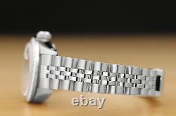 Rolex Ladies Datejust Quickset 18k White Gold Diamond & Steel Silver Dial Watch