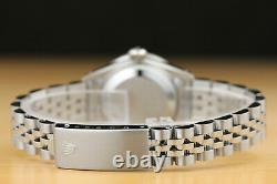 Rolex Ladies Datejust Red Vignette Diamond Ruby 18k White Gold & Steel Watch
