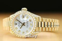 Rolex Ladies President Datejust 18k Yellow Gold Diamond Bezel & Lugs Watch