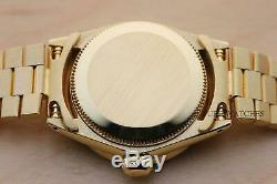 Rolex Ladies Solid 18k Yellow Gold Oyster Perpetual White Mop Diamond Watch