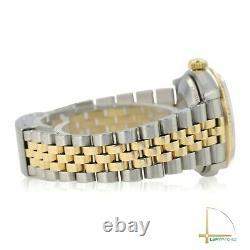 Rolex Lady Datejust 68273 31mm 18KY/SS White MOP Diamond Dial Fluted Bezel Watch