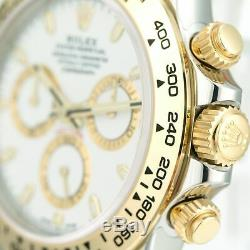Rolex Men's Watch 40mm Daytona 116503 18K Yellow Gold and Steel White Dial- New