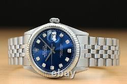 Rolex Mens Datejust 18k White Gold And Stainless Steel Watch With Rolex Band
