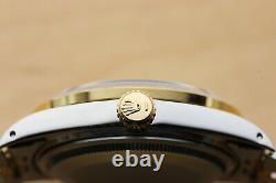 Rolex Mens Datejust 18k Yellow Gold Stainless Steel Diamond Bezel & Lugs Watch
