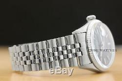 Rolex Mens Datejust Black Dial 18k White Gold & Stainless Steel Quickset Watch