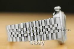 Rolex Mens Datejust Black Stick Dial 18k White Gold & Stainless Steel Watch
