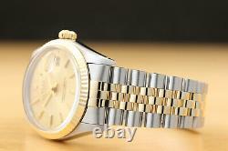 Rolex Mens Datejust Quickset 18k Yellow Gold & Stainless Steel Genuine Watch