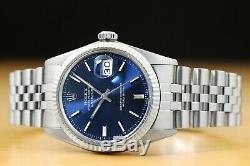 Rolex Mens Datejust Quickset Rolex 18k White Gold Bezel & Stainless Steel Watch